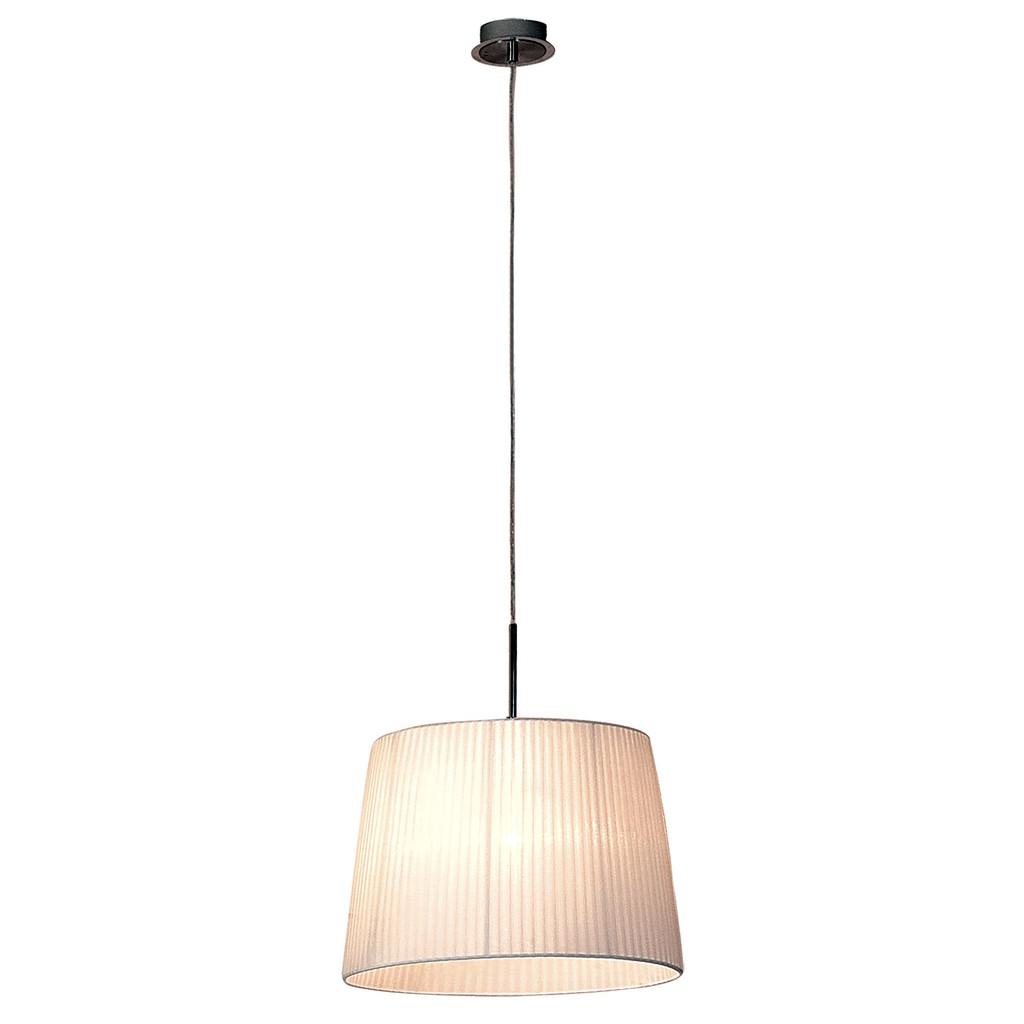Подвесной светильник Citilux Гофре CL913611, 1xE27x100W, хром, белый, металл, текстиль - фото 1