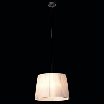 Подвесной светильник Citilux Гофре CL913611, 1xE27x100W, хром, белый, металл, текстиль - миниатюра 2