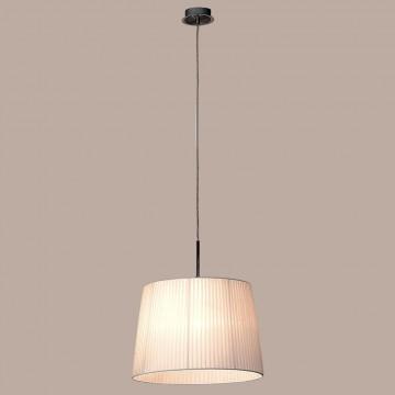 Подвесной светильник Citilux Гофре CL913611, 1xE27x100W, хром, белый, металл, текстиль - миниатюра 3