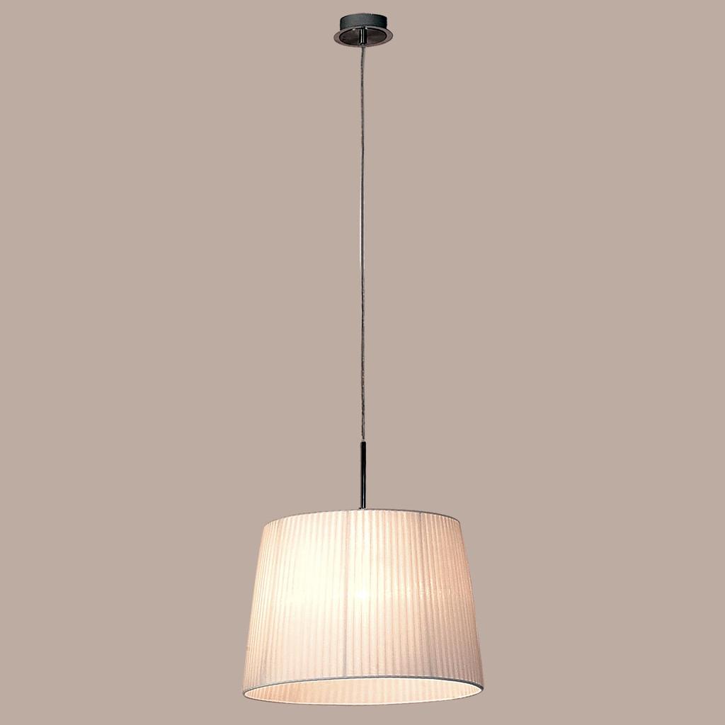 Подвесной светильник Citilux Гофре CL913611, 1xE27x100W, хром, белый, металл, текстиль - фото 3