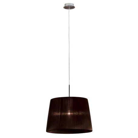 Подвесной светильник Citilux Гофре CL913612, 1xE27x100W, хром, коричневый, металл, текстиль