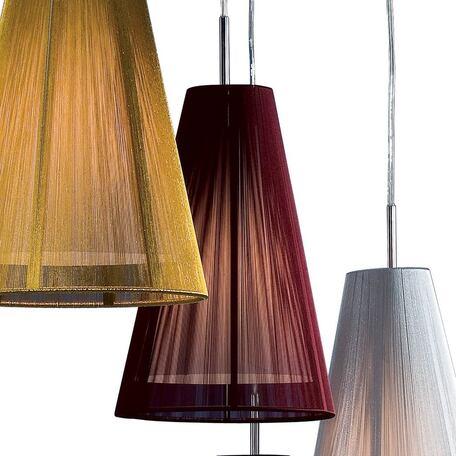 Подвесной светильник Citilux CL923, CL936 CL936002, 1xE27x75W, хром, фиолетовый, металл, текстиль