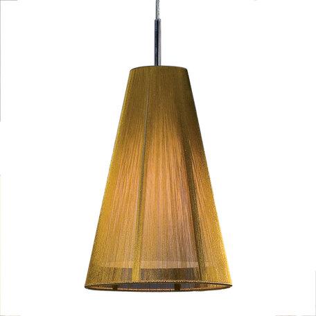 Подвесной светильник Citilux CL923, CL936 CL936007, 1xE27x75W, хром, золото, металл, текстиль