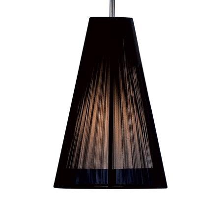 Подвесной светильник Citilux CL923, CL936 CL936008, 1xE27x75W, хром, черный, металл, текстиль