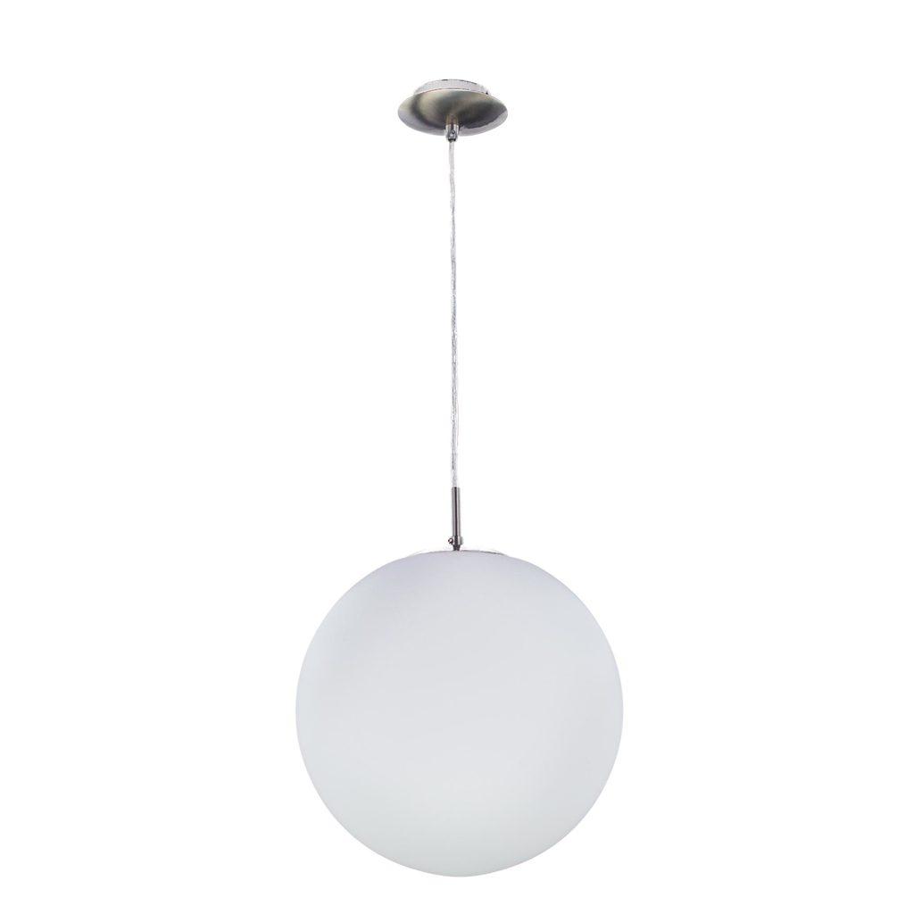 Подвесной светильник Citilux Шар CL941251, 1xE27x100W, хром, белый, металл, стекло - фото 1