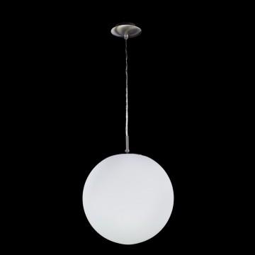 Подвесной светильник Citilux Шар CL941251, 1xE27x100W, хром, белый, металл, стекло - миниатюра 2