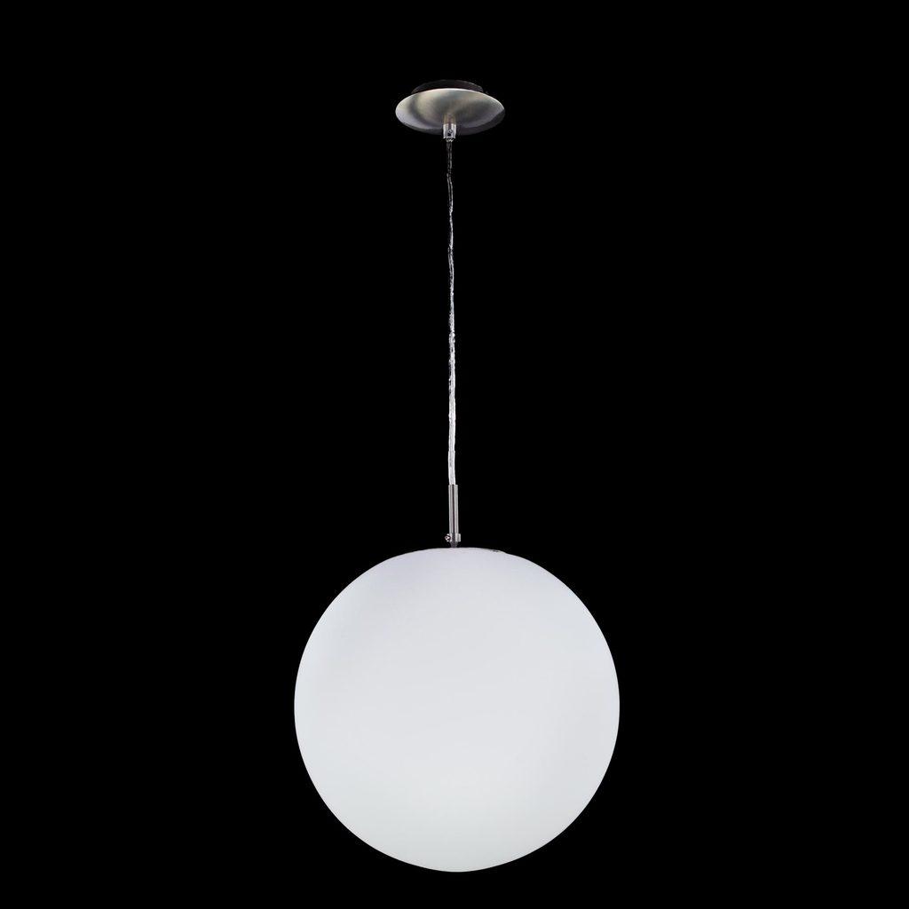 Подвесной светильник Citilux Шар CL941251, 1xE27x100W, хром, белый, металл, стекло - фото 2