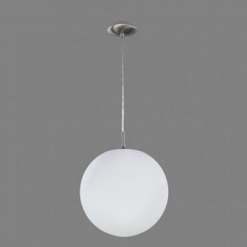 Подвесной светильник Citilux Шар CL941251, 1xE27x100W, хром, белый, металл, стекло - миниатюра 3