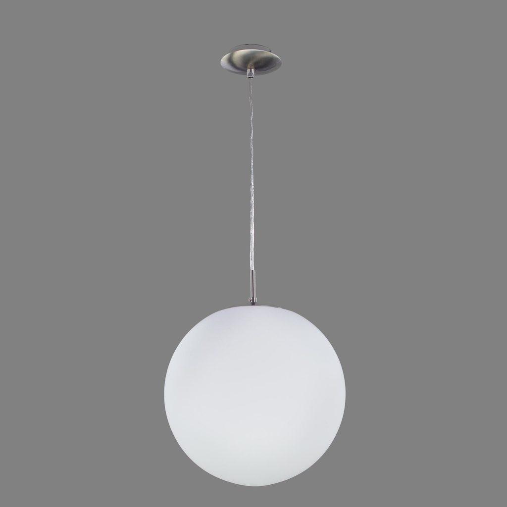 Подвесной светильник Citilux Шар CL941251, 1xE27x100W, хром, белый, металл, стекло - фото 3