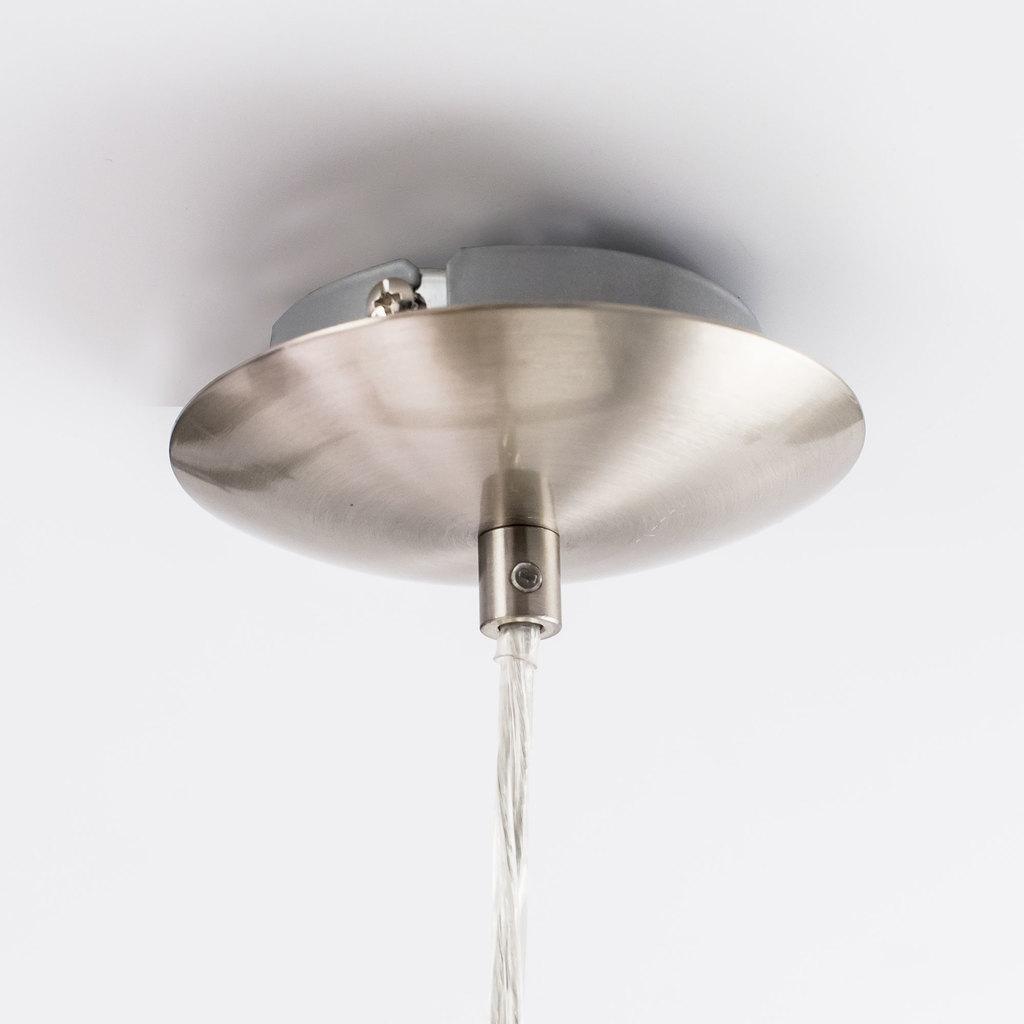 Подвесной светильник Citilux Шар CL941251, 1xE27x100W, хром, белый, металл, стекло - фото 4