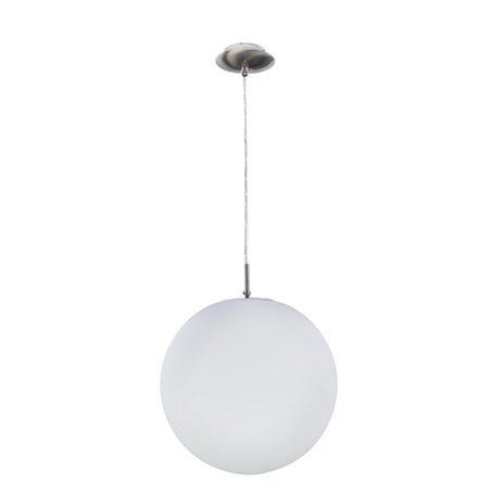 Подвесной светильник Citilux Шар CL941301, 1xE27x100W, хром, белый, металл, стекло
