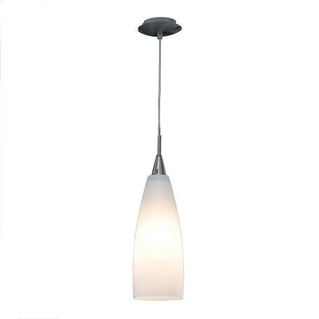 Подвесной светильник Citilux Бокал CL942011, 1xE27x100W, матовый хром, белый, металл, стекло