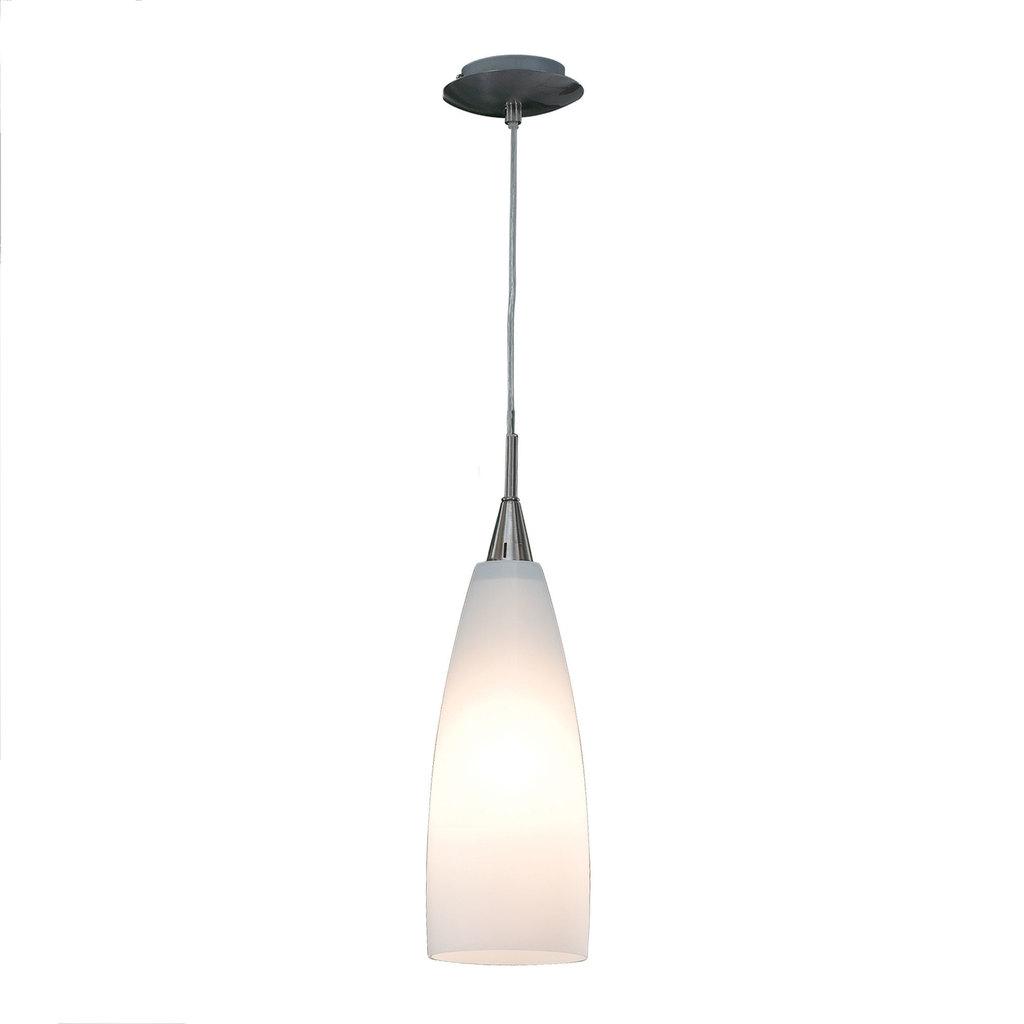 Подвесной светильник Citilux Бокал CL942011, 1xE27x100W, матовый хром, белый, металл, стекло - фото 1
