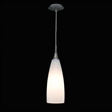 Подвесной светильник Citilux Бокал CL942011, 1xE27x100W, матовый хром, белый, металл, стекло - миниатюра 2