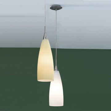 Подвесной светильник Citilux Бокал CL942011, 1xE27x100W, матовый хром, белый, металл, стекло - миниатюра 3