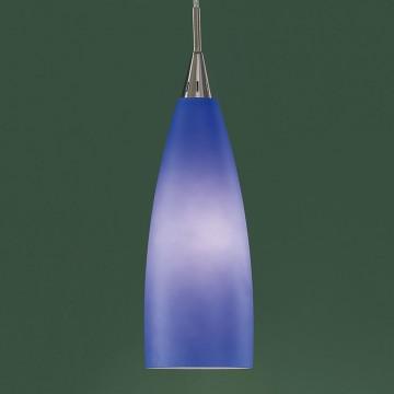 Подвесной светильник Citilux Бокал CL942012, 1xE27x100W, матовый хром, синий, металл, стекло - миниатюра 3