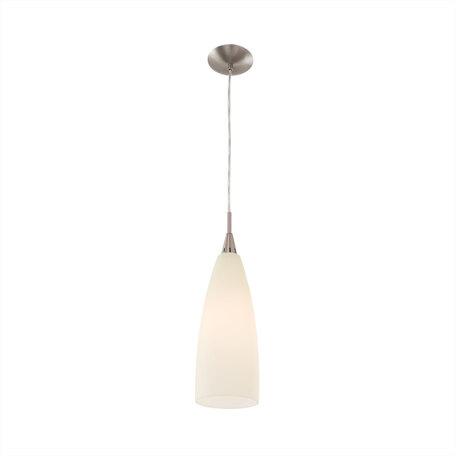 Подвесной светильник Citilux Бокал CL942013, 1xE27x100W, матовый хром, бежевый, металл, стекло
