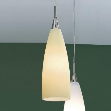 Подвесной светильник Citilux Бокал CL942013, 1xE27x100W, матовый хром, бежевый, металл, стекло - миниатюра 3