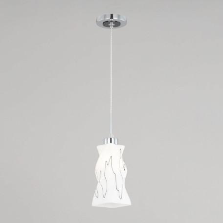Подвесной светильник Citilux Спин CL943111, 1xE27x75W, хром, белый, металл, стекло
