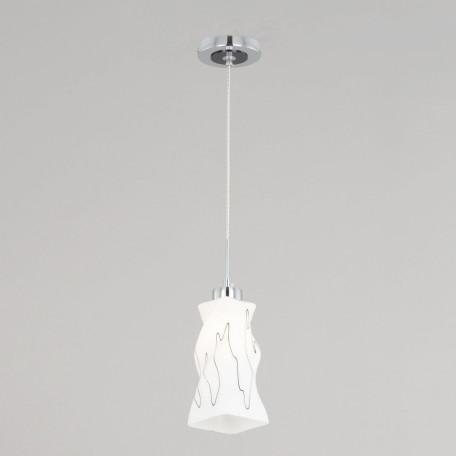 Подвесной светильник Citilux Спин CL943111, 1xE27x75W, хром, белый, металл, стекло - миниатюра 2