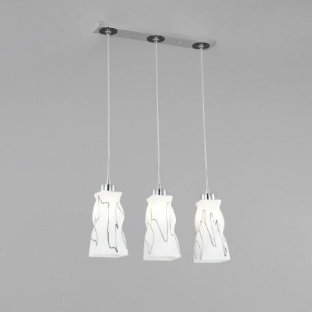 Подвесной светильник Citilux Спин CL943131, 3xE27x75W, хром, белый, металл, стекло - миниатюра 3