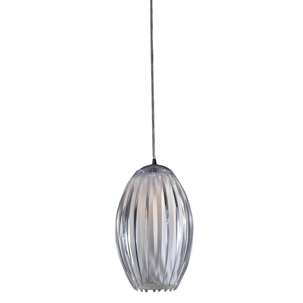 Подвесной светильник Citilux Октопус CL944000, 1xE27x40W, хром, белый, прозрачный, металл, стекло - фото 1