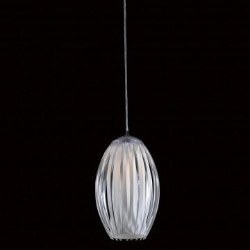 Подвесной светильник Citilux Октопус CL944000, 1xE27x40W, хром, белый, прозрачный, металл, стекло - миниатюра 2