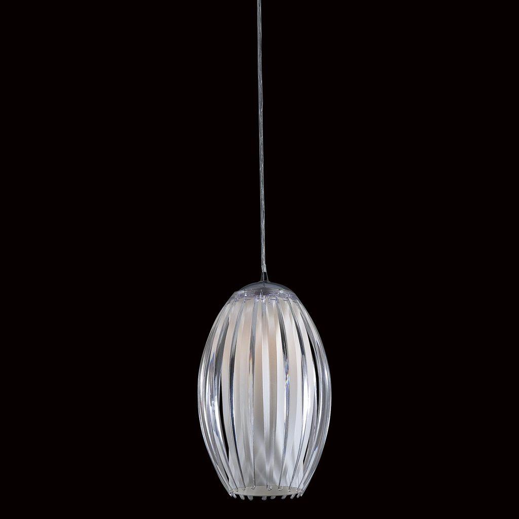 Подвесной светильник Citilux Октопус CL944000, 1xE27x40W, хром, белый, прозрачный, металл, стекло - фото 2