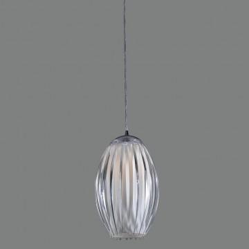 Подвесной светильник Citilux Октопус CL944000, 1xE27x40W, хром, белый, прозрачный, металл, стекло - миниатюра 3