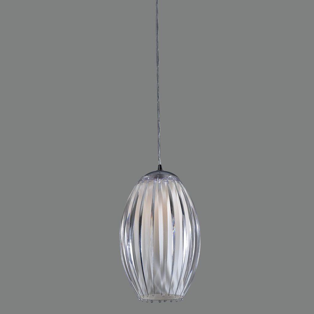 Подвесной светильник Citilux Октопус CL944000, 1xE27x40W, хром, белый, прозрачный, металл, стекло - фото 3