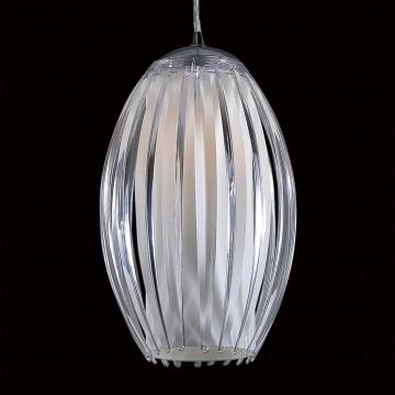 Подвесной светильник Citilux Октопус CL944000, 1xE27x40W, хром, белый, прозрачный, металл, стекло - миниатюра 4