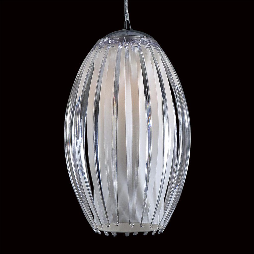 Подвесной светильник Citilux Октопус CL944000, 1xE27x40W, хром, белый, прозрачный, металл, стекло - фото 4