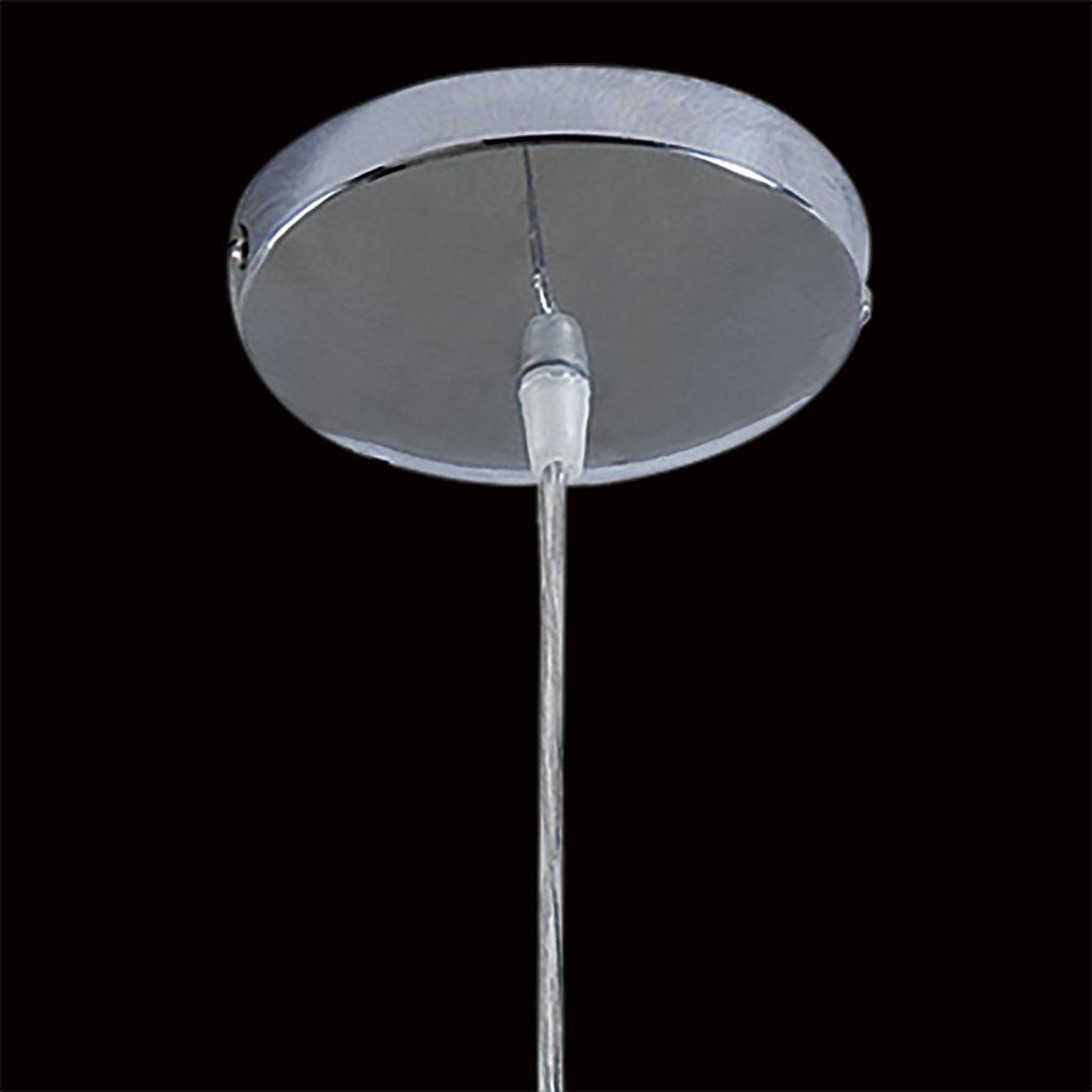 Подвесной светильник Citilux Октопус CL944000, 1xE27x40W, хром, белый, прозрачный, металл, стекло - фото 5