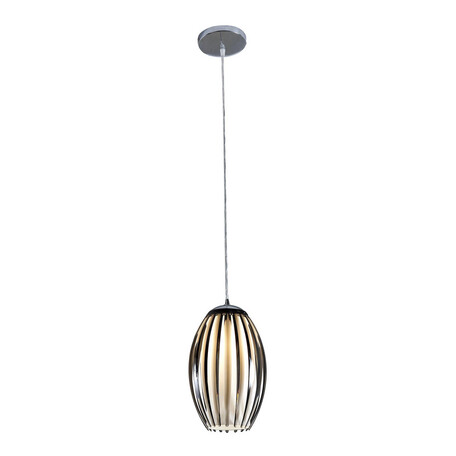 Подвесной светильник Citilux Октопус CL944001, 1xE27x40W, хром, белый, черный, металл, стекло