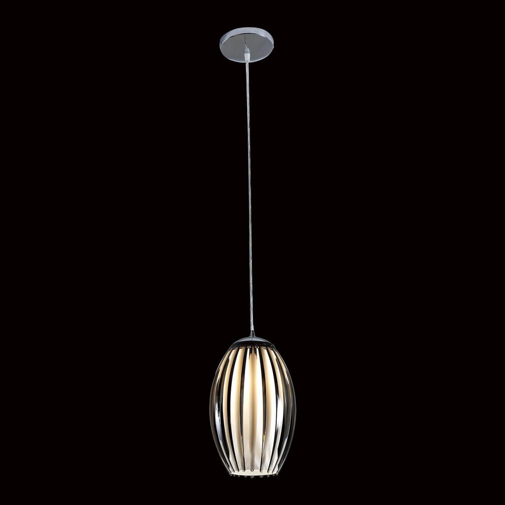 Подвесной светильник Citilux Октопус CL944001, 1xE27x40W, хром, черный, металл, стекло - фото 2