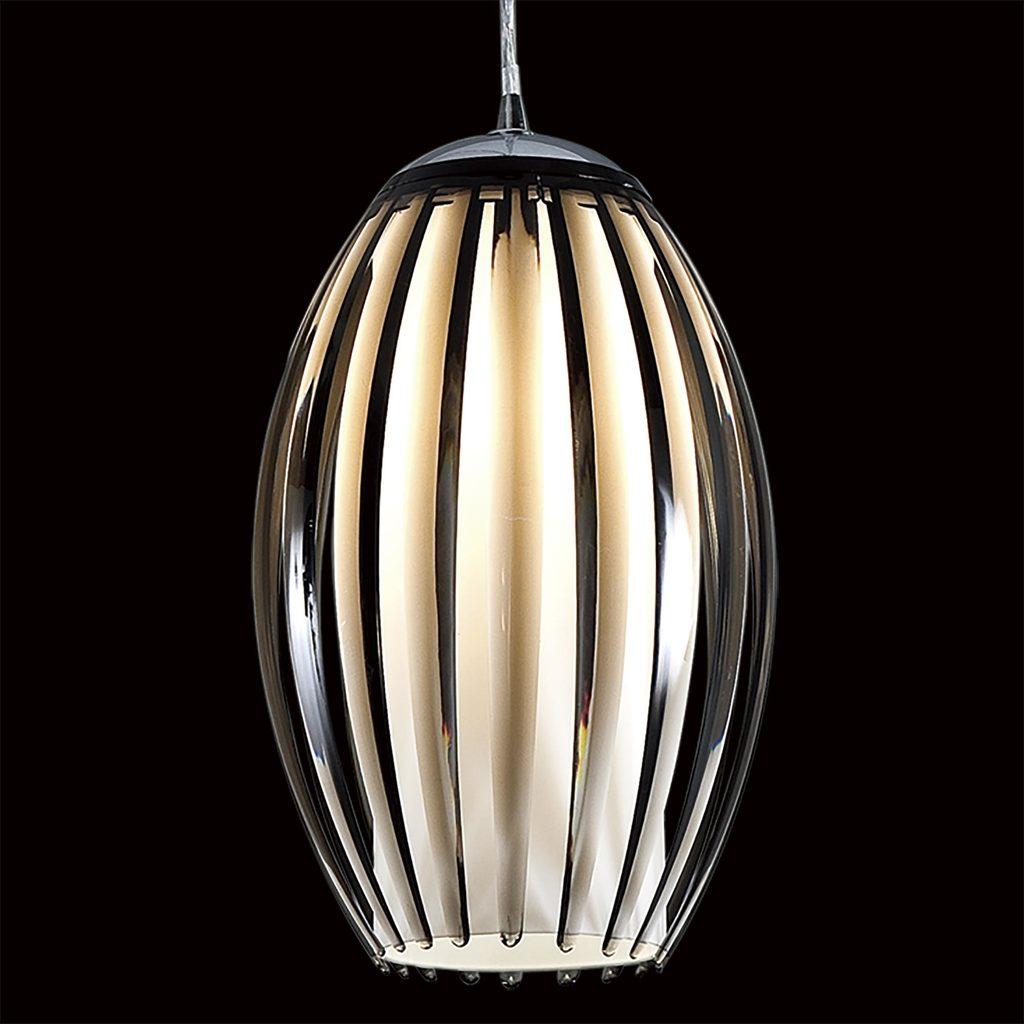 Подвесной светильник Citilux Октопус CL944001, 1xE27x40W, хром, черный, металл, стекло - фото 4