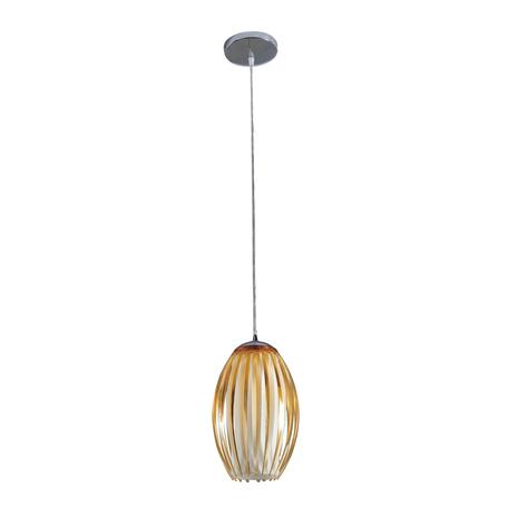 Подвесной светильник Citilux Октопус CL944002, 1xE27x40W, хром, желтый, металл, стекло