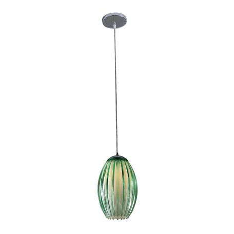 Подвесной светильник Citilux Октопус CL944003, 1xE27x40W, хром, зеленый, металл, стекло