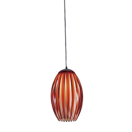 Подвесной светильник Citilux Октопус CL944005, 1xE27x40W, хром, красный, металл, стекло
