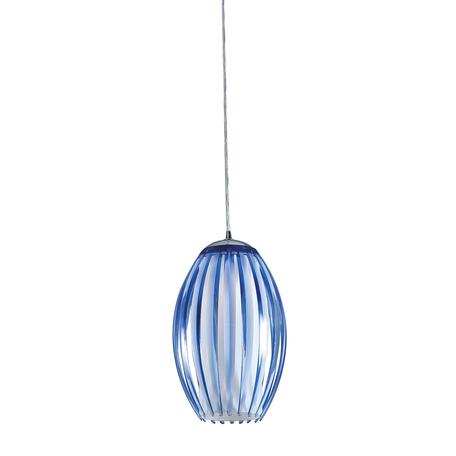 Подвесной светильник Citilux Октопус CL944006, 1xE27x40W, хром, синий, металл, стекло