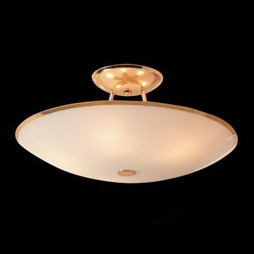 Потолочная люстра Citilux Лайн CL911202, 5xE27x75W, золото, белый, металл, стекло - миниатюра 2