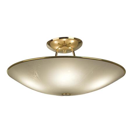 Потолочная люстра Citilux Лайн CL911203, 5xE27x75W, золото, белый, металл, стекло