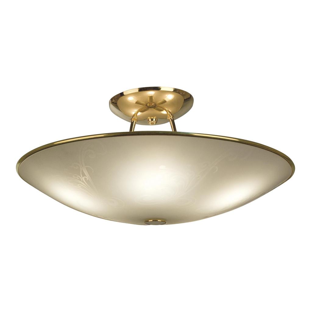 Потолочная люстра Citilux Лайн CL911203, 5xE27x75W, золото, белый, металл, стекло - фото 1