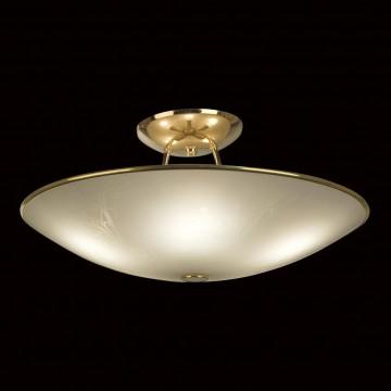 Потолочная люстра Citilux Лайн CL911203, 5xE27x75W, золото, белый, металл, стекло - миниатюра 2