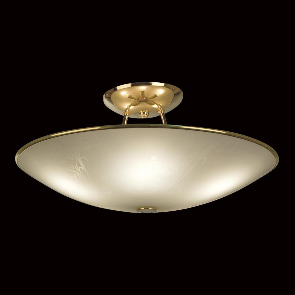 Потолочная люстра Citilux Лайн CL911203, 5xE27x75W, золото, белый, металл, стекло - фото 2