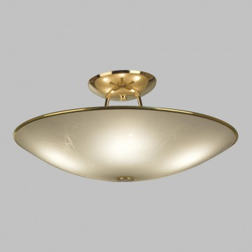 Потолочная люстра Citilux Лайн CL911203, 5xE27x75W, золото, белый, металл, стекло - миниатюра 3