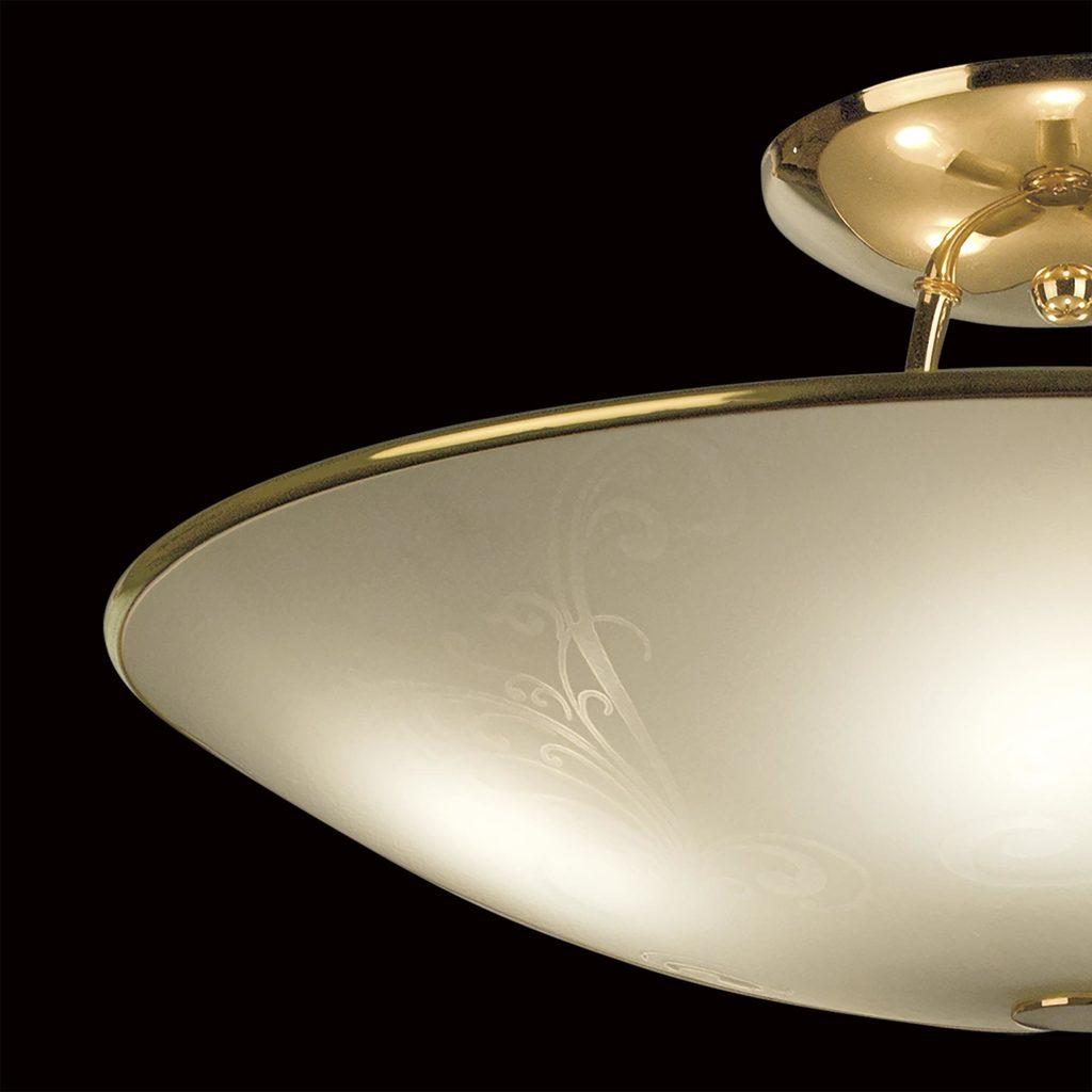 Потолочная люстра Citilux Лайн CL911203, 5xE27x75W, золото, белый, металл, стекло - фото 4
