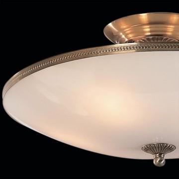 Потолочная люстра Citilux CL912100, 5xE27x75W, бронза, белый, металл, стекло - миниатюра 4