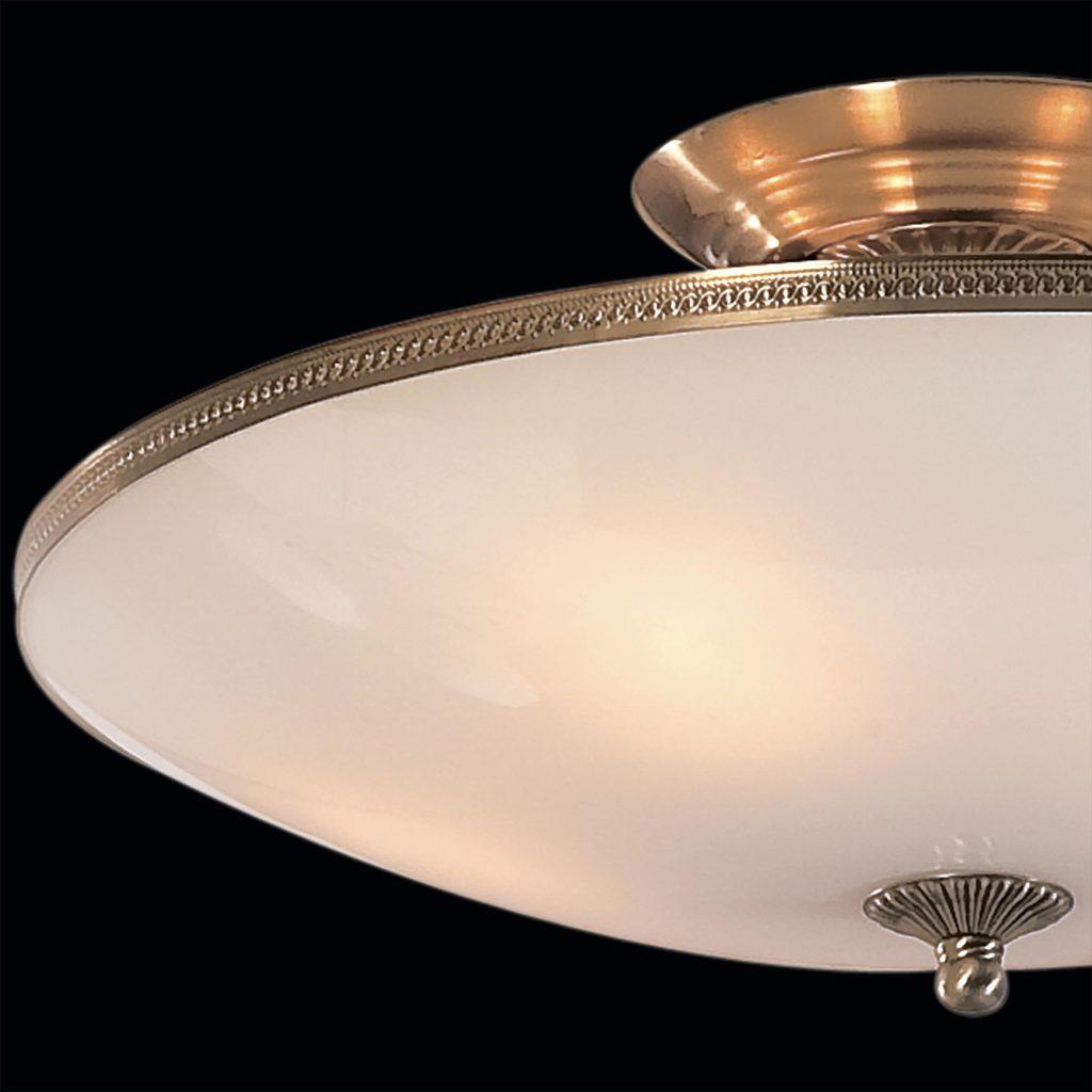 Потолочная люстра Citilux CL912100, 5xE27x75W, бронза, белый, металл, стекло - фото 4