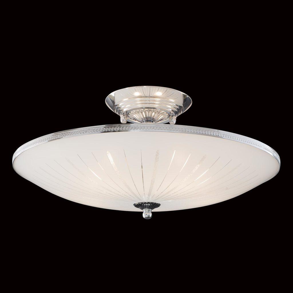 Потолочная люстра Citilux CL912111, 5xE27x75W, хром, белый, металл, стекло - фото 2